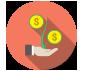 icone argent qui fleurit