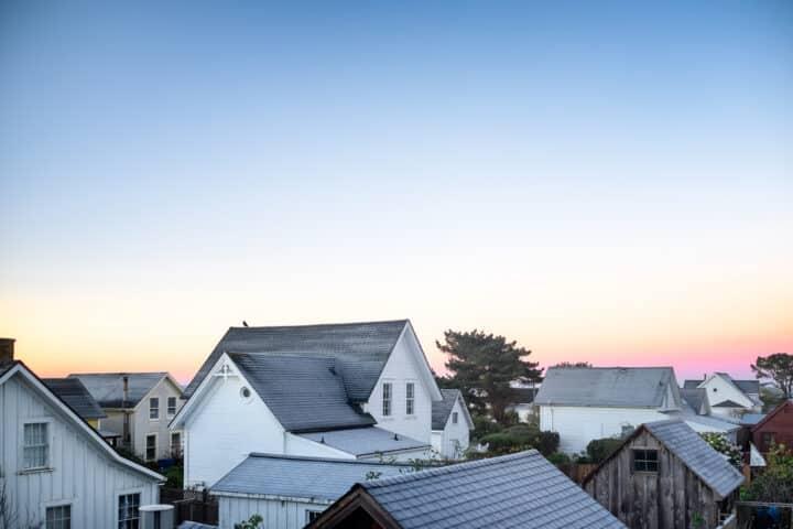 toitures de maisons de ville